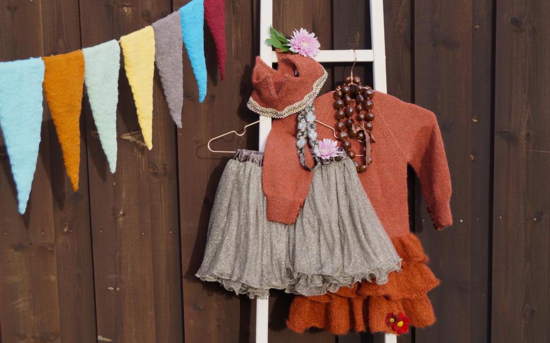 Strikkekjole blir prinsessekjole til årets karneval