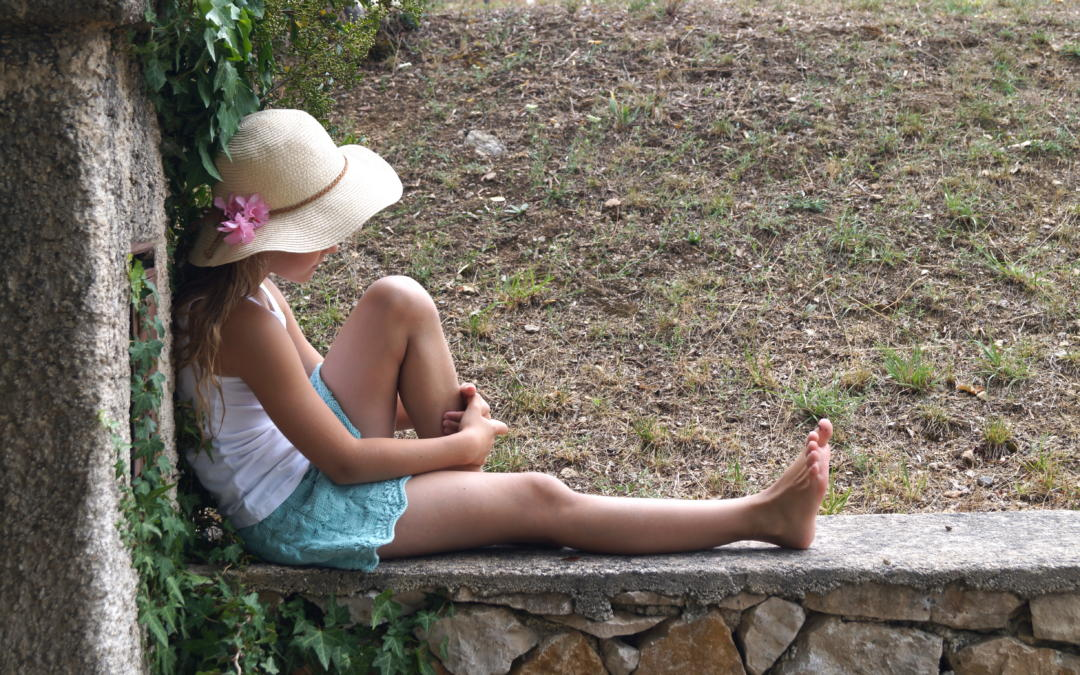 Kronblad strikkeshorts til sol, sommer og ferie