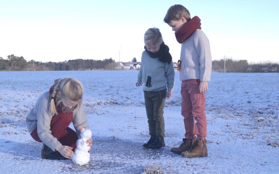 Snømannstrikk i varm og myk kvalitet