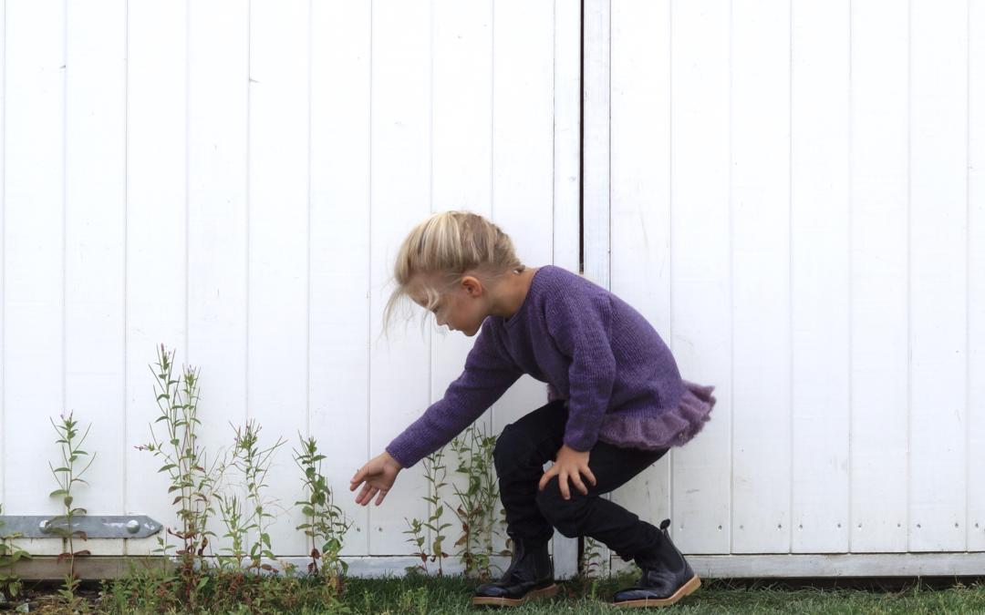 Strikkegenser,- perfekt til barnehagebruk