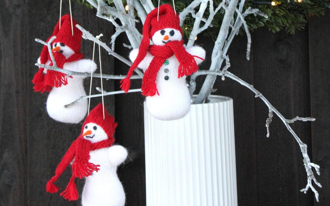 19. desember; strikket snømann