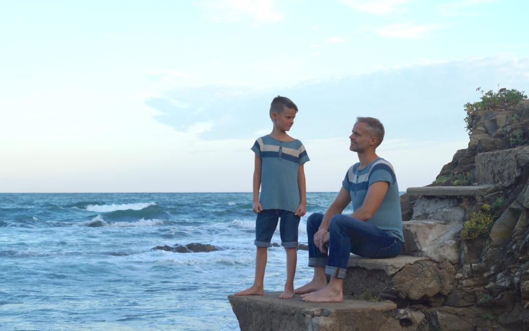 Far -og sønn trøye i nydelig linkvalitet