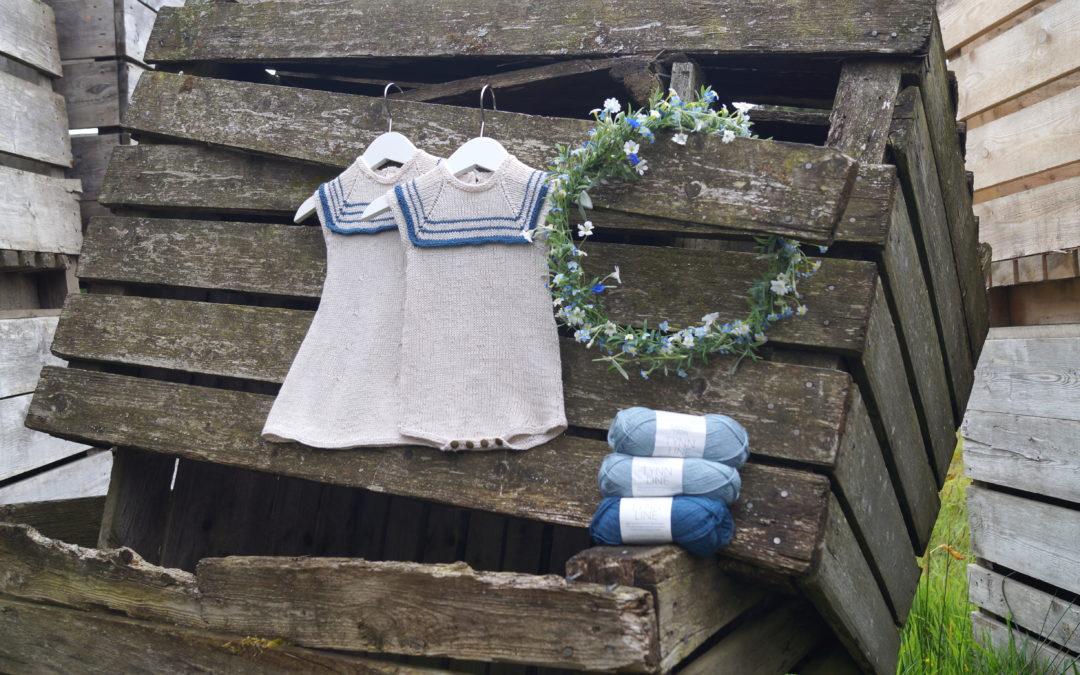 Lilleseilerdress og kjole fra boka Drømmestrikk