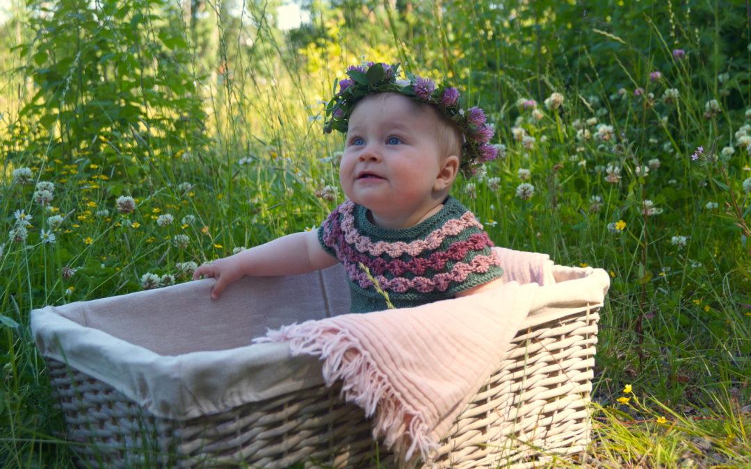 Blomsterengdrakt til varme dager