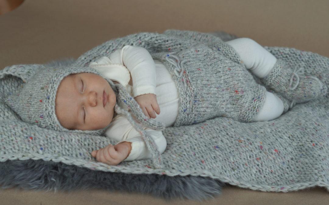 Babykosesett i nydelig, myk kvalitet
