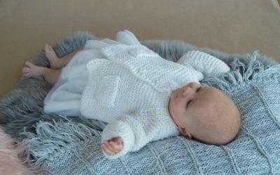Gåsunge jakke til baby Gustav & Berta